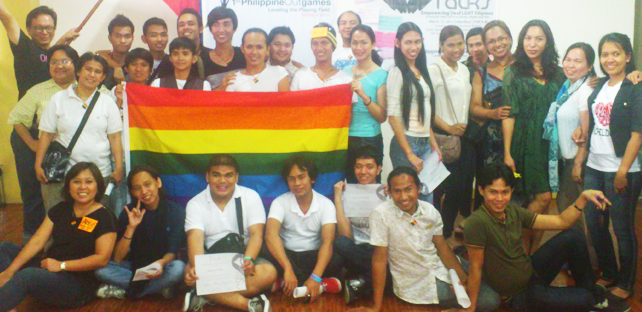 Pinoy Deaf Rainbow Inc. members gather in this file photo during Deaf Talks, a forum held by R-Rights with CHR and Outrage Magazine to help empower Deaf LGBT Filipinos.