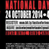 'Nat'l Day of Outrage' scheduled on Oct. 24