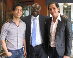 The US Ambassador to the Philippines, Harry K. Thomas Jr., with the author (at right) and Patrick King Pascual