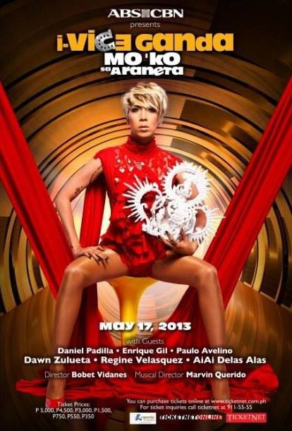 Poster for one of Vice Ganda's hyped shows