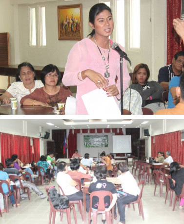 During the public hearing of the anti-discrimination ordinance ALL PHOTOS COURTESY OF YSANG SEMACIO BACASMAS, LADLAD CARAGA INC.