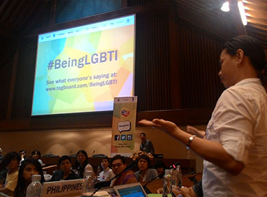 """""""I fight for my rights and continue to share LBGT awareness to everyone, particularly Deaf LGBT people. Whatever I am – Deaf and gay – I am so proud of being,"""" Henry Perey says."""