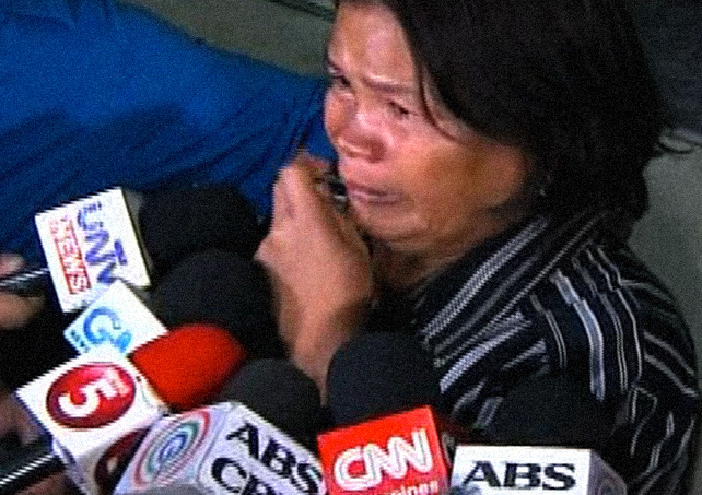 Jennifer Laude's mother still in anguish over the death of her daughter.
