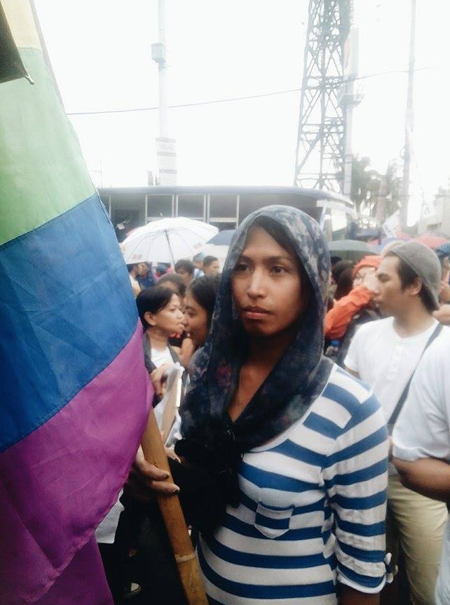"ransgender woman Claire laments how her life as a working LGBT person has worsened - not only did she experience discriminatory practices in her workplace because of her sexual orientation and gender identity and expression, but she also continues to face difficulties because of the pervasive contractualization of workers that empower private companies like her former employer to illegally dismiss her before she can be regularized. For Claire, it's ""layer after layer of difficulties that continued under the presidency of Noynoy Aquino,"" she said in Filipino. PHOTO BY AARON BONETTE"