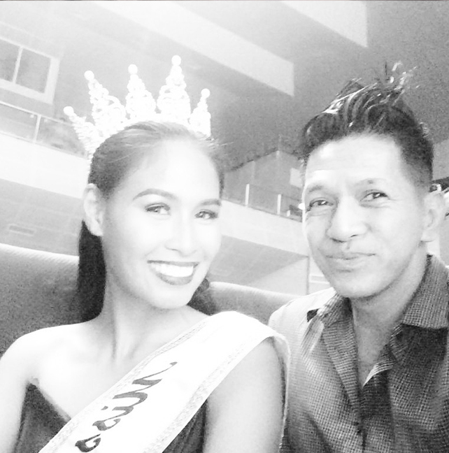 Outrage Magazine editor Michael David Tan with Christine Balaguer, the Deaf beauty titlist disqualified by the Binibining Pilipinas (the assumption was because of her being deaf); she eventually placed 1st runner up in Miss Manila.