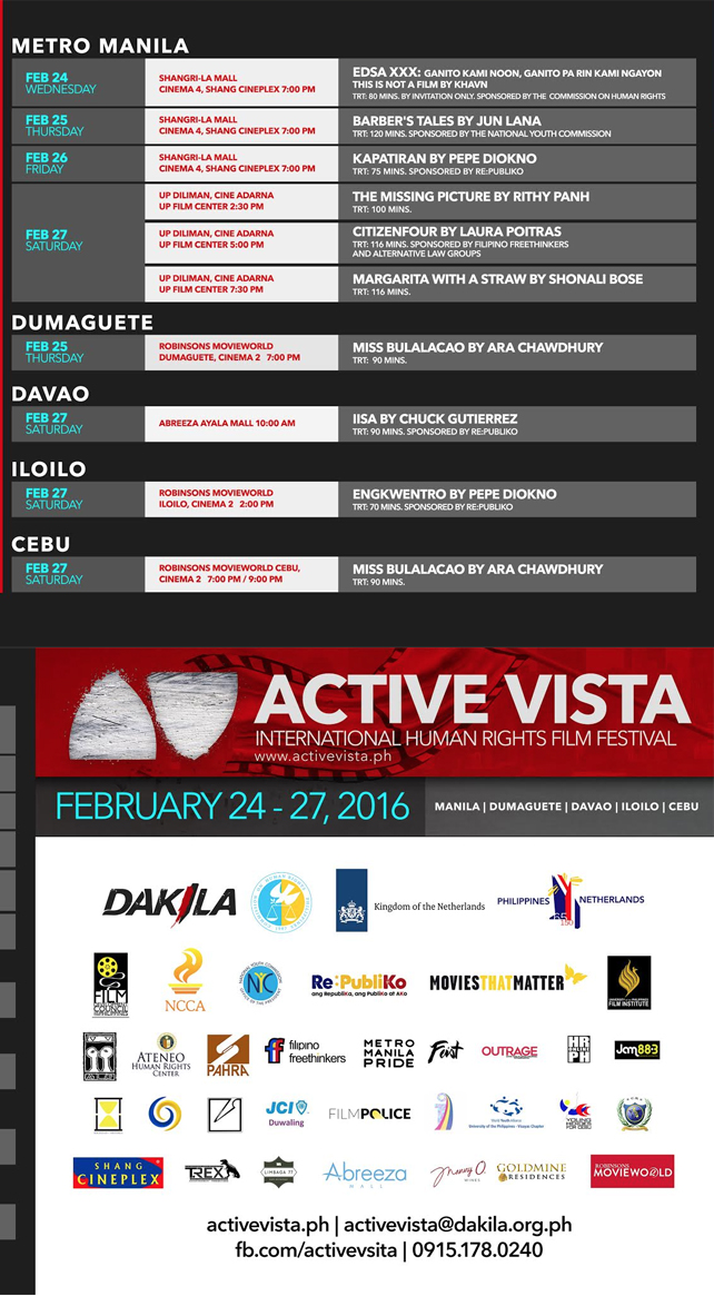 Active Vista schedule