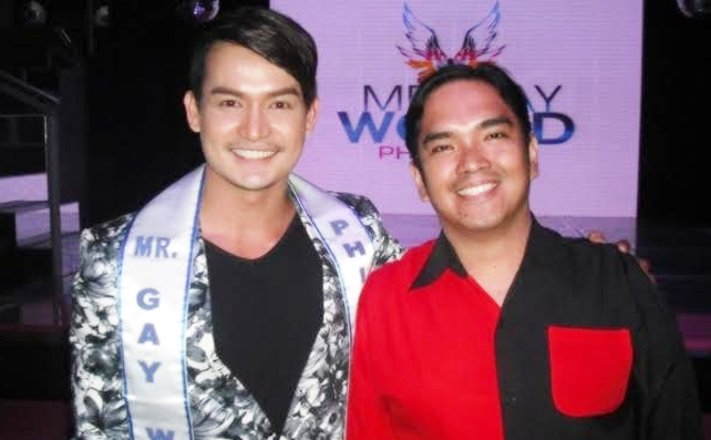 Mr. Gay Philippines 2016 with the author of the article