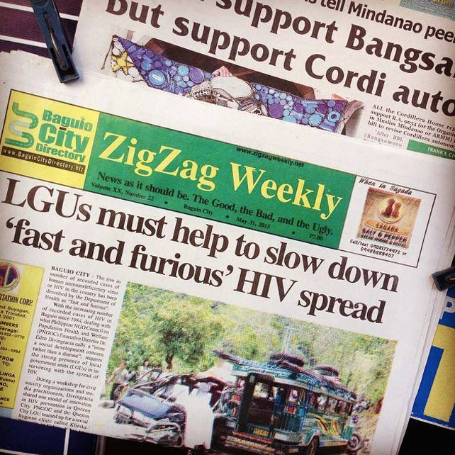 In Baguio City, the continuing worsening HIV situation in the Philippines made the front page of a local publication, highlighting how, truly, this is an issue that cannot - must not - be ignored.